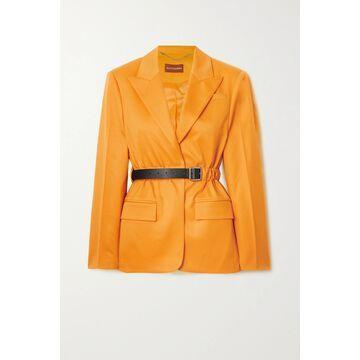 Altuzarra - Lilium Belted Wool-blend Twill Blazer - Yellow