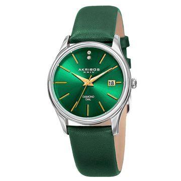 Akribos XXIV Womens Green Strap Watch-A-879gn