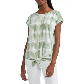 Chaps Women's Tie-Front Cotton-Blend Top -