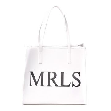Marc Ellis White Shirley Leather Shopping Bag