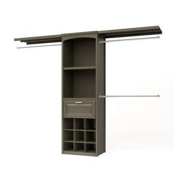 allen + roth 8-ft W x 6.83-ft H Antique Gray Wood Closet Kit