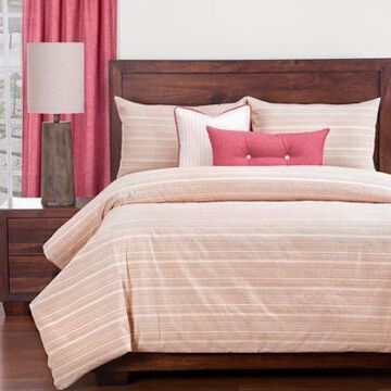 SIScovers Sunwashed Brick Twin Duvet Cover Set in Red/Beige