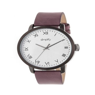 Simplify Unisex Purple Strap Watch-Sim4206