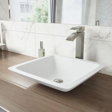 VIGO Duris Brushed Nickel Vessel Bathroom Faucet