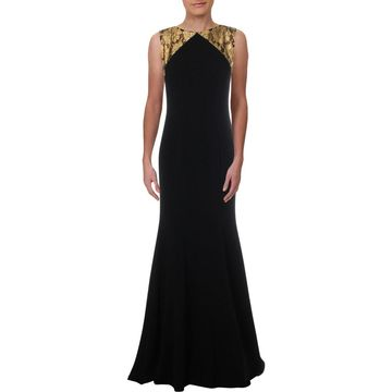 Theia Womens Evening Dress Metallic Formal - 6