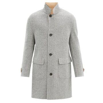 Brunello Cucinelli - Reversible Herringbone Wool-blend Coat - Mens - Grey Multi