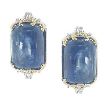 Michael Valitutti Palladium Silver Kyanite Stud Earrings