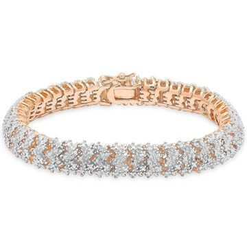 Finesque Silver or Gold Overlay 1ct TDW Diamond Bracelet
