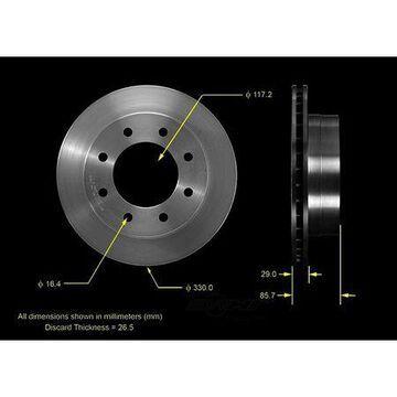 Bendix Brake Rotor, PRT5466