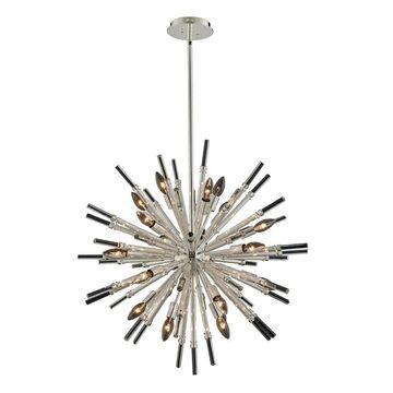 Allegri 037456014FR001 19 Light Pendant Sprazzo Polished Silver - One Size (One Size - Clear)