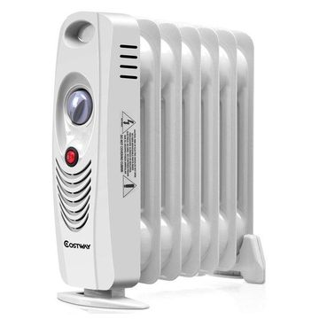 Costway 700W Portable Mini Electric Oil Filled Radiator Heater Safe Room
