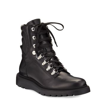 Christie Leather Combat Booties