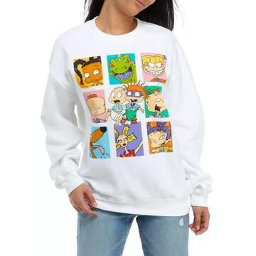 Nickelodeon Women's Long Sleeve Fleece Rugrats Sweatshirt - -
