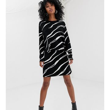 Weekday knitted sweater with zebra swirl print
