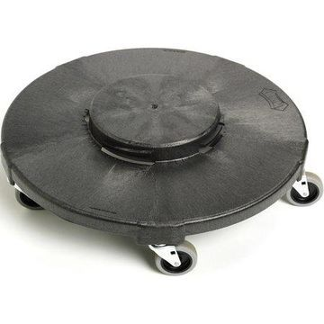 Genuine Joe, Round Dolly, 1 / Each, Black