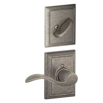 Schlage Accent Right Handed Single Cylinder Interior Pack, Distressed Nickel