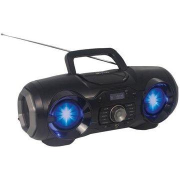 Naxa NPB-274 Portable Bluetooth/MP3/CD/USB/FM PLL Stereo Boom Box with Disco LED Light