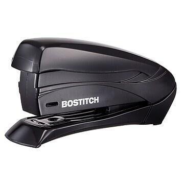 Bostitch Inspirea Spring-Powered Compact Stapler, 15-Sheet Capacity, Black (1493)