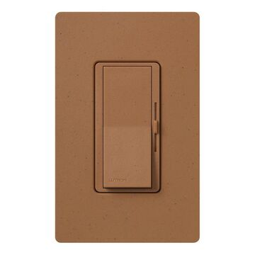 Lutron Diva Single-Pole/3-Way Terracotta Rocker Light Dimmer