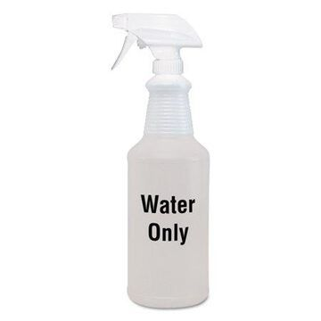 Diversey Water Only Spray Bottle, Clear, 32 oz, 12/Carton