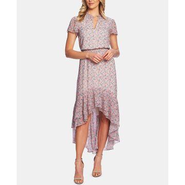 Flutter-Sleeve High-Low Dress