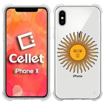 Cellet TPU / PC Proguard Case with Argentina Flag (2) for Apple iPhone X