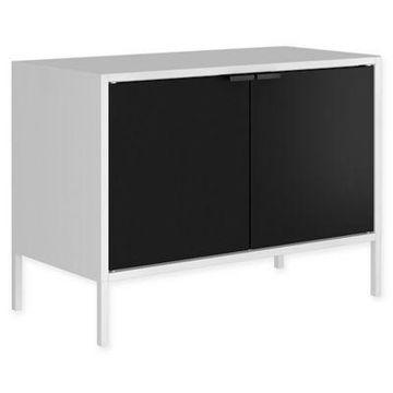 Manhattan Comfort Smart TV Stand in White/Black