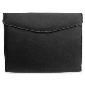 Piel Leather Envelope Padfolio in Black