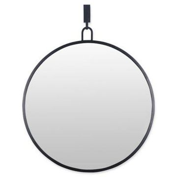 Varaluz Casa Round Stopwatch Mirror in Black