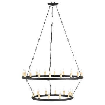 Currey and Company 9935 Toulouse 30 Light Chandelier - Black