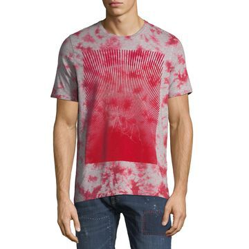 Men's Flocked Logo Graphic T-Shirt