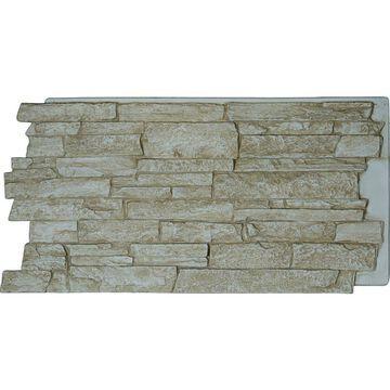 Ekena Millwork Acadia Ledge Stacked Stone 8-sq ft Sandstone Faux Stone Veneer Panel in Brown | PNU24X48ALSD