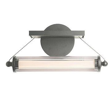 Libra LED Sconce by Hubbardton Forge - Color: Clear - Finish: Glossy - (209105-1003)