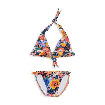 Shoshanna Little Girl's and Girl's 2-Piece Fiesta Floral Bow Bikini Set