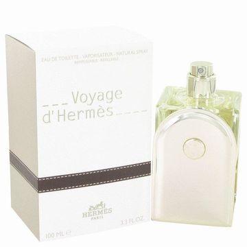 Voyage D'Hermes by Hermes Eau De Toilette Spray Refillable 3.3 oz for Men (Package of 2)