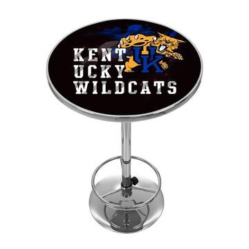 Trademark Gameroom Kentucky Wildcats Pub Tables Chrome Round Bar Table, Composite with Metal Metal Base