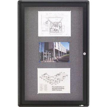Quartet, QRT2363L, Radius Frame Fabric Bulletin Board, 1 / Each
