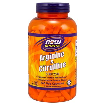 Arginine & Citrulline 500/250 Now Foods 240 VCaps