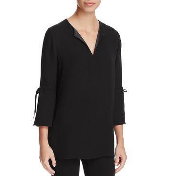 Lafayette 148 New York Womens Silk Sheer Blouse