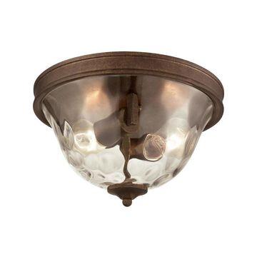 Westmore Lighting Solano 12-in Mocha Transitional Flush Mount Light