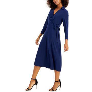 Anne Klein Fit & Flare Wrap Dress