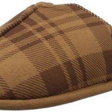 Dearfoams Mens STITCH Fabric Closed Toe Slip On