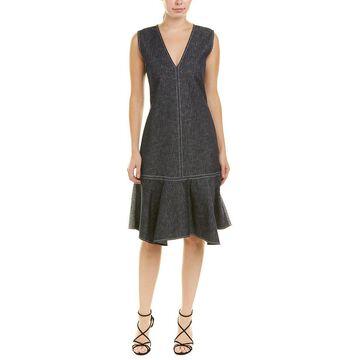 Derek Lam 10 Crosby Womens Denim Shift Dress