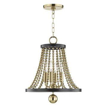 Hudson Valley Spool 4-Light Chandelier, Aged Brass