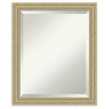 Amanti Art Teardrop Medium Bathroom Mirror in Champagne