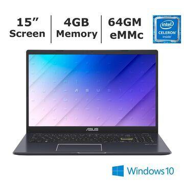 ASUS L510 Laptop Intel Celeron N4020 Processor 4GB Memory 64GB eMMC