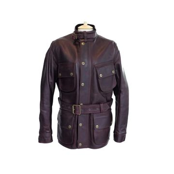 Barbour Burgundy Leather Coats