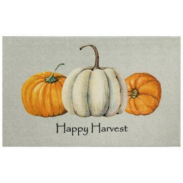 Mohawk Home Prismatic Happy Pumpkins Rug, Beig/Green, 3X4 Ft