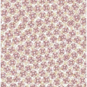 Brewster 2657-22226 Allison Lavender Floral Wallpaper
