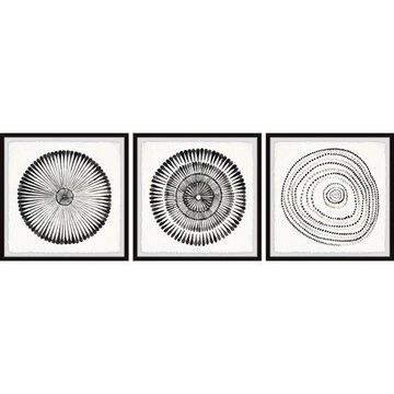 Marmont Hill Circle Bloom Triptych